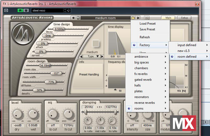 ArtsAcoustic Reverb - Room Modes