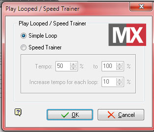 Guitar Pro 5 - Play Looped/SpeedTrainer
