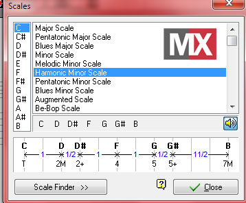 Guitar Pro 5 - Scale Finder