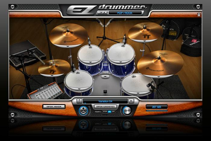 EZDrummer là một thư viện Drums tốt, dễ dùng với Home Studio