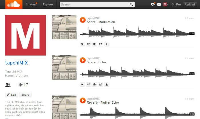 Tạp chí MIX trên SoundCloud