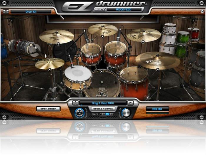 """EZdrummer - Rock EZX - UI """"nhìn"""" đã thấy... âm thanh """"hay"""" rồi! :))"""