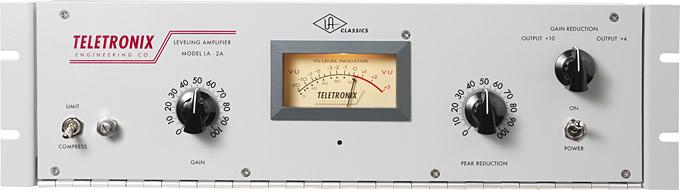 Compressor LA-2A với 2 nút điều khiển chính bao gồm Gain và Threshold
