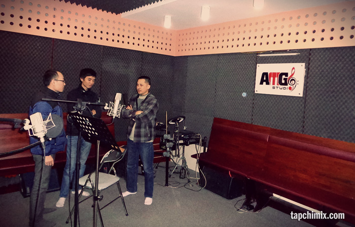 Phòng thu khá rộng rãi của AMG Studio
