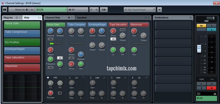 Pro ChannelStrip chất lượng cao và dễ sử dụng