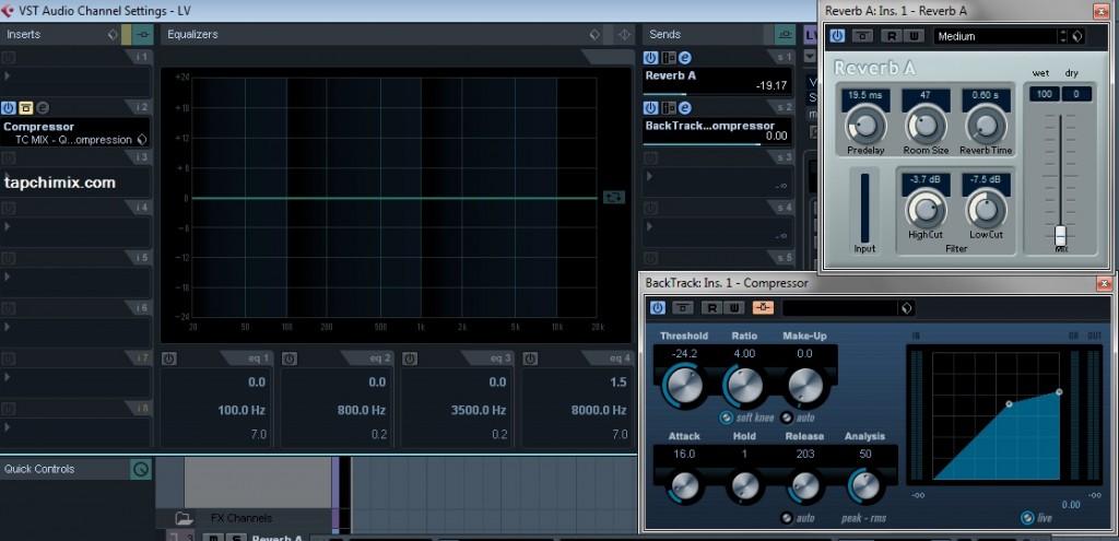 Chuỗi hiệu ứng xử lý tín hiệu audio khi thu Vocal của tôi chỉ đơn giản thế này thôi