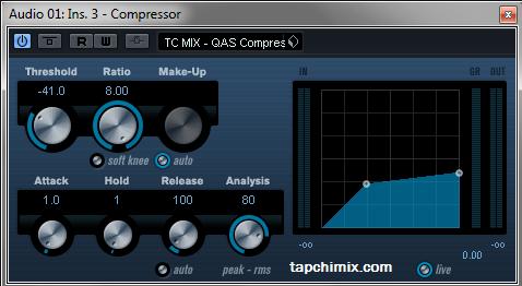 QAS Compressor - Luôn tắt trong lúc bấm thu