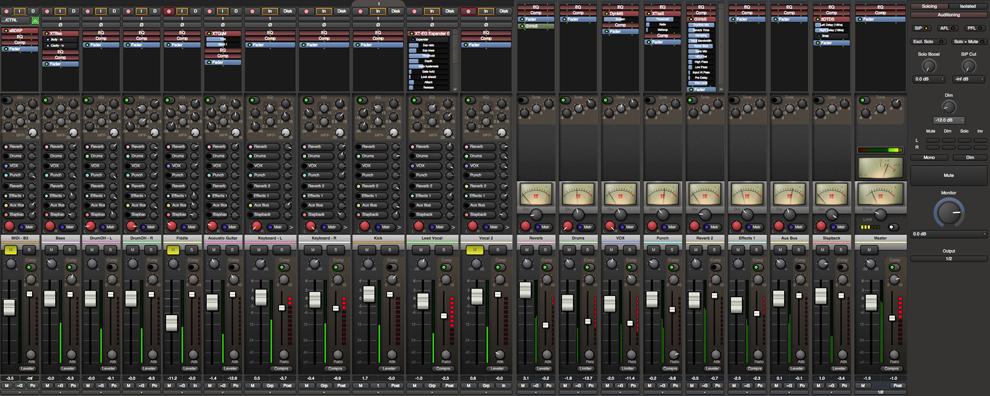 Mixer của Harrison Mixbus 3