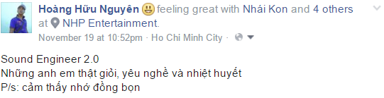Anh Hoàng Hữu Nguyên - Sound Engineer 2.0