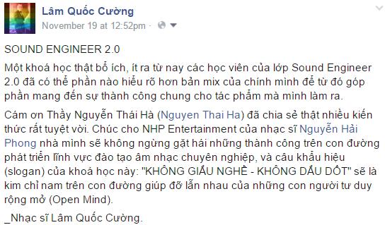Nhạc sĩ Lâm Quốc Cường - Sound Engineer 2.0
