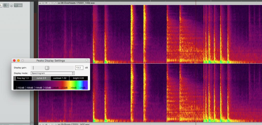 Reaper Spectrogram