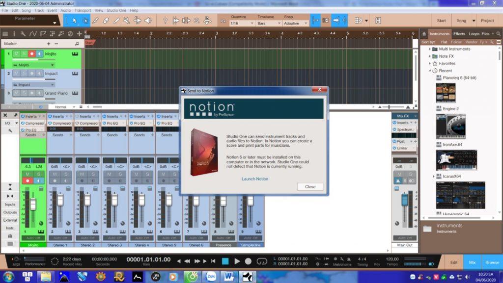 Studio One Notion 6